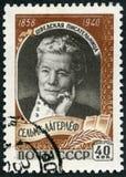 ΕΣΣΔ - 1959: παρουσιάζει Selma Ottilia Lovisa Lagerlof το 1858-1940, σουηδικός συγγραφέας Στοκ Εικόνα
