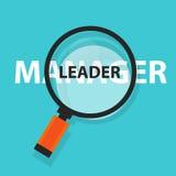 Εστίαση λέξης επιχειρησιακής ενίσχυσης έννοιας ηγετών διευθυντών στο κείμενο διανυσματική απεικόνιση