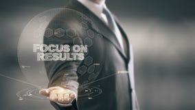 Εστίαση στα αποτελέσματα με την έννοια επιχειρηματιών ολογραμμάτων απόθεμα βίντεο