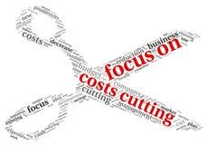 Εστίαση στις δαπάνες που κόβουν την έννοια διανυσματική απεικόνιση