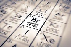 Εστίαση στο χημικό στοιχείο βρωμίου ελεύθερη απεικόνιση δικαιώματος