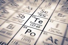 Εστίαση στο χημικό στοιχείο τελλουρίου διανυσματική απεικόνιση