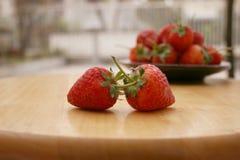 Εστίαση φραουλών στοκ εικόνες με δικαίωμα ελεύθερης χρήσης