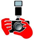 εστίαση φωτογραφικών μηχ&alph ελεύθερη απεικόνιση δικαιώματος