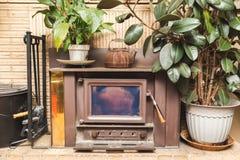 Εστία μέσα σε ένα σπίτι Στοκ φωτογραφία με δικαίωμα ελεύθερης χρήσης