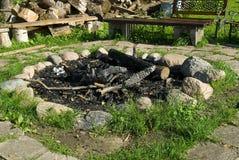 Εστία που περιβάλλεται από την πέτρα Στοκ Εικόνα