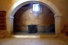 Εστία στο δωμάτιο μέσα στο μοναστήρι Arkadi Στοκ φωτογραφία με δικαίωμα ελεύθερης χρήσης