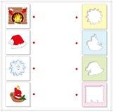 Εστία Χριστουγέννων, καπέλο santas, snowflake και κερί Εκπαίδευση Στοκ φωτογραφία με δικαίωμα ελεύθερης χρήσης