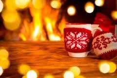 Εστία Χριστουγέννων Χριστουγέννων διακοπές χειμώνας Στοκ Φωτογραφία