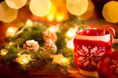 Εστία Χριστουγέννων Χριστουγέννων διακοπές χειμώνας Στοκ Εικόνα