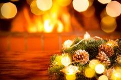 Εστία Χριστουγέννων Χριστουγέννων διακοπές χειμώνας Στοκ εικόνα με δικαίωμα ελεύθερης χρήσης