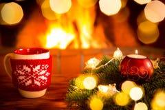Εστία Χριστουγέννων Χριστουγέννων διακοπές χειμώνας Στοκ Φωτογραφίες