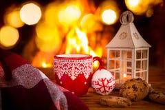 Εστία Χριστουγέννων Χριστουγέννων διακοπές χειμώνας Στοκ Εικόνες