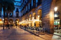 Εστιατόρια σε Placa Reial Βαρκελώνη Στοκ Εικόνες