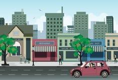 Εστιατόρια στην πόλη. ελεύθερη απεικόνιση δικαιώματος