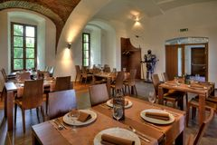 Εστιατόρια στο ξενοδοχείο Στοκ εικόνες με δικαίωμα ελεύθερης χρήσης