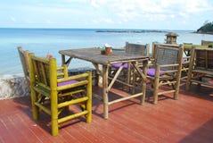 Εστιατόριο από την παραλία Στοκ Εικόνες