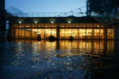 Εστιατόριο από το νερό Στοκ Φωτογραφία