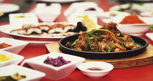 Εστιατόριο επιτραπέζιων φωτογραφιών κρέατος τροφίμων στοκ εικόνες με δικαίωμα ελεύθερης χρήσης