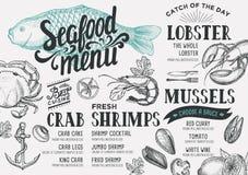 Εστιατόριο επιλογών θαλασσινών Στοκ φωτογραφίες με δικαίωμα ελεύθερης χρήσης