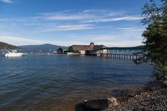 Εστιατόριο κέδρων στη λίμνη Coeur δ ` Alene Στοκ Φωτογραφία