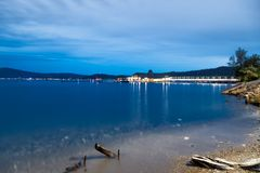 Εστιατόριο κέδρων στη λίμνη Coeur δ ` Alene Στοκ Εικόνα