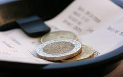 εστιατόριο λογαριασμών Στοκ φωτογραφία με δικαίωμα ελεύθερης χρήσης
