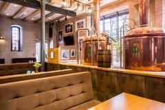 Εστιατόριο με το βιομηχανικό θέμα Στοκ φωτογραφίες με δικαίωμα ελεύθερης χρήσης