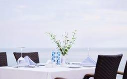 Εστιατόριο παραλιών Στοκ Εικόνα