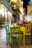 Εστιατόριο πόλεων Nafplio τη νύχτα στοκ φωτογραφία με δικαίωμα ελεύθερης χρήσης