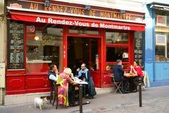 Εστιατόριο σε Montmartre, Παρίσι Στοκ Εικόνες