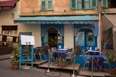 Εστιατόριο σκηνής οδών της Νίκαιας Γαλλία Στοκ φωτογραφία με δικαίωμα ελεύθερης χρήσης
