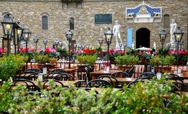 Εστιατόριο στην Ιταλία Στοκ Εικόνες