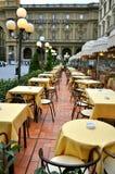 Εστιατόριο στην Ιταλία στοκ εικόνα