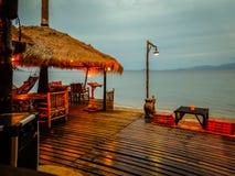 Εστιατόριο στην παραλία Στοκ εικόνες με δικαίωμα ελεύθερης χρήσης