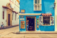 Εστιατόριο στη γωνία σε Plaza Fernandez de Μαδρίτη Cartage Στοκ Εικόνες