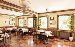 Εστιατόριο στο κλασικό ύφος Στοκ Εικόνες