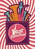 Εστιατόριο της Jazz ελεύθερη απεικόνιση δικαιώματος