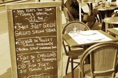 εστιατόριο του Παρισιού Στοκ Εικόνες