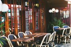 εστιατόριο του Παρισιού Στοκ Εικόνα