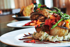 εστιατόριο τρία πιάτων Στοκ Εικόνα