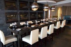 Εστιατόριο φραγμών πολυτέλειας Στοκ εικόνα με δικαίωμα ελεύθερης χρήσης