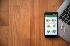 Εστιατόριο app McDonalds Στοκ Εικόνες