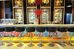 εστιατόριο bistro ράβδων στοκ εικόνα με δικαίωμα ελεύθερης χρήσης