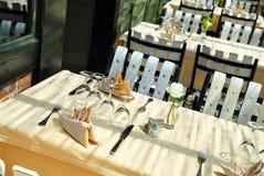 εστιατόριο patio Στοκ Εικόνες