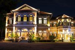 Εστιατόριο Phuket μεγάρων του μπλε κυβερνήτη ελεφάντων & μαγειρεύοντας σχολείο Στοκ φωτογραφία με δικαίωμα ελεύθερης χρήσης