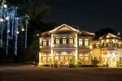 Εστιατόριο Phuket μεγάρων του μπλε κυβερνήτη ελεφάντων & μαγειρεύοντας σχολείο Στοκ Φωτογραφία