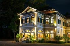 Εστιατόριο Phuket μεγάρων του μπλε κυβερνήτη ελεφάντων & μαγειρεύοντας σχολείο Στοκ Εικόνα