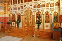 Εσωτερικά έπιπλα του ναού Στοκ Φωτογραφία