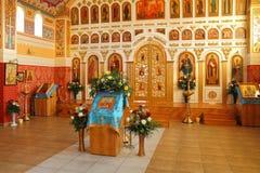 Εσωτερικά έπιπλα του ναού Στοκ εικόνα με δικαίωμα ελεύθερης χρήσης